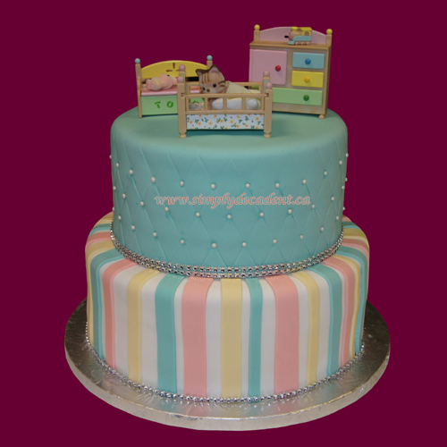 Baby Shower Tier Cakes