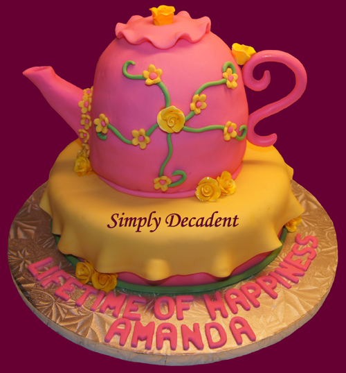Teapot Baby Shower Cakes